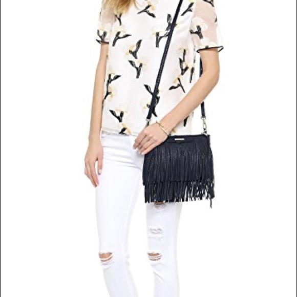 1050a1273d86 New Rebecca Minkoff Finn Clutch Fringe Bag NWT